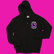 Full Zippered Sweatshirt with Pink Logo