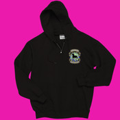 Full Zippered Sweatshirt with Green Logo