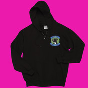 Full Zippered Sweatshirt with Pit Bull Head Logo