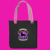 Tote Bag with Pink Logo