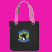 Tote Bag with Pit Bull Head